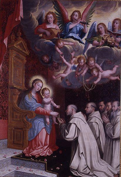 Apparizione della Vergine del Rosario ai certosini (Museo delle Belle Arti Granada)