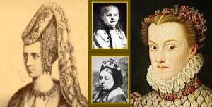 Isabella di Baviera, Guglielmina d'Olanda, Vittoria d'Inghilterra, Caterina de Medici