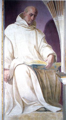Ludolfo di Sassonia affresco di  D. Crespi certosa di Garegnano