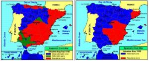 Prima ( Agosto settembre 1936) e dopo (novembre 1938)