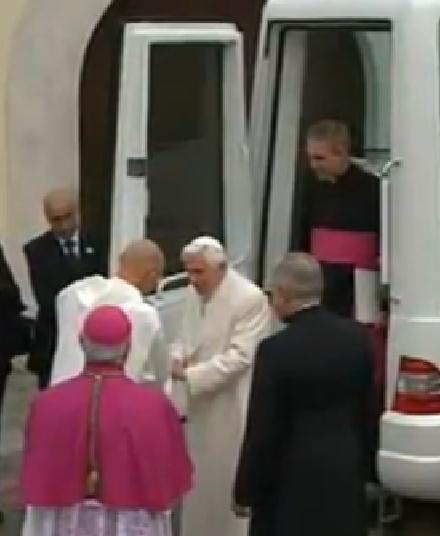 Padre Georg a Serra con S.S.Benedetto XVI