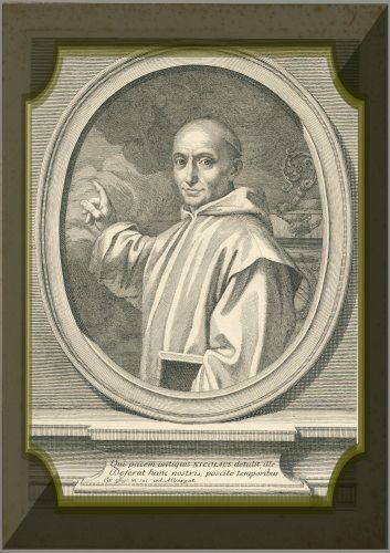 beato Niccolò Albergati antica stampa