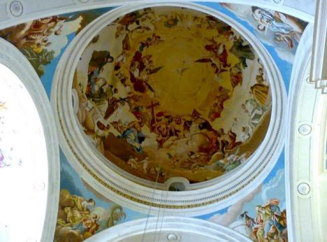 affresco cupola (certosa di Valdemossa)