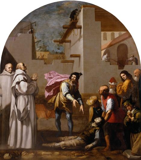 Il Priore Dom Boson resuscita un muratore (V.Carducho)