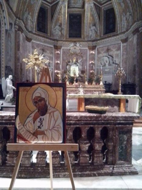 l'icona sull'altare della certosa di Roma