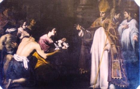 S. Ugo resuscita un bambino - Napoli Certosa di San Martino