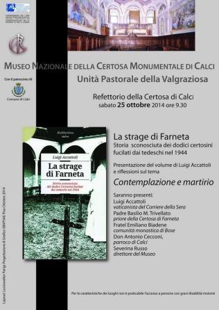 La strage di Farneta, Contemplazione e martirio,  presentazione del volume di Luigi Accattoli