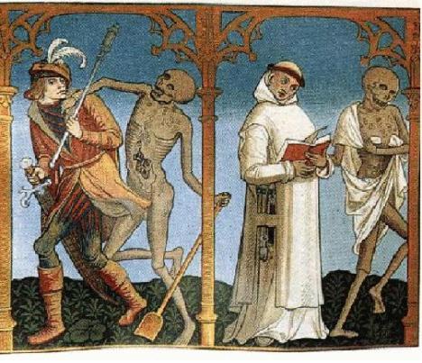 certosino con chiave in danza macabra 1732