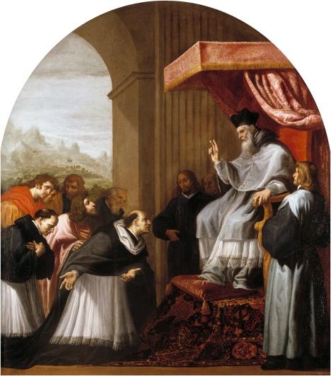 Bruno ed i suoi sei compagni si presentano davanti al vescovo Ugo
