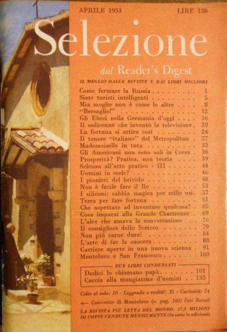 copertina Selezione aprile 1953