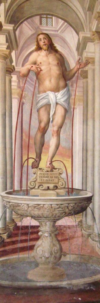 Cristo fons vitae (certosa pavia affesco)