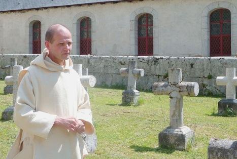 Dom Dysmas de Lassus nel cimitero della Grande Chartreuse