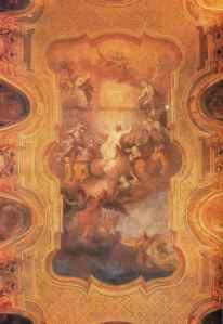 Affresco con san Bruno in gloria (Augero 1835-1840)