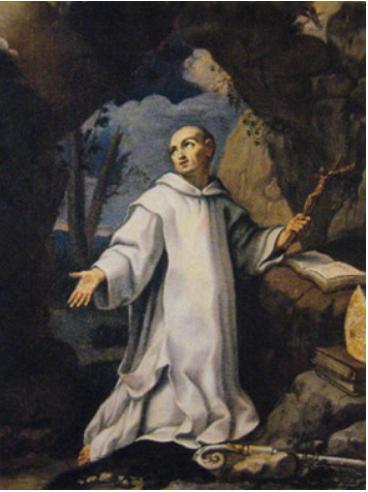 Elisabetta Sirani (1638-1665), San Bruno in preghiera, 1657. Tela, cm 52,5 x 39. Bologna, Pinacoteca Nazionale,