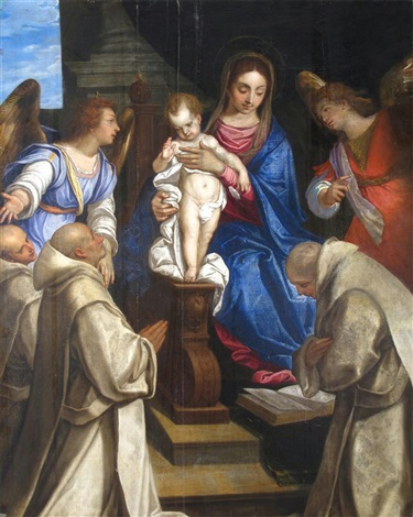 felice-brusasorci-madonna-and-child-with-angels-presenting-carthusian-monks