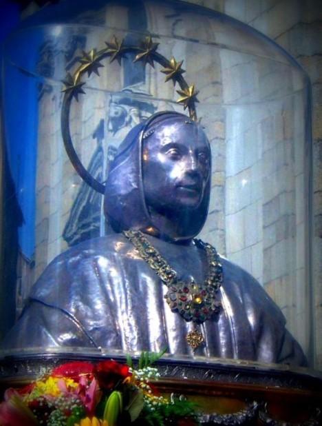 busto di san Bruno in processione