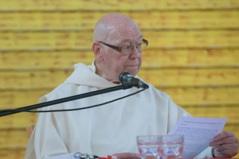 Brother Marcellin Theeuwes, former general prior of the Carthusians, Taize, july .2015