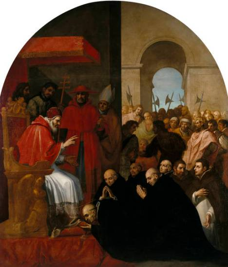 6 Bruno giunge a Roma da Urbano II (Vicente Carducho)