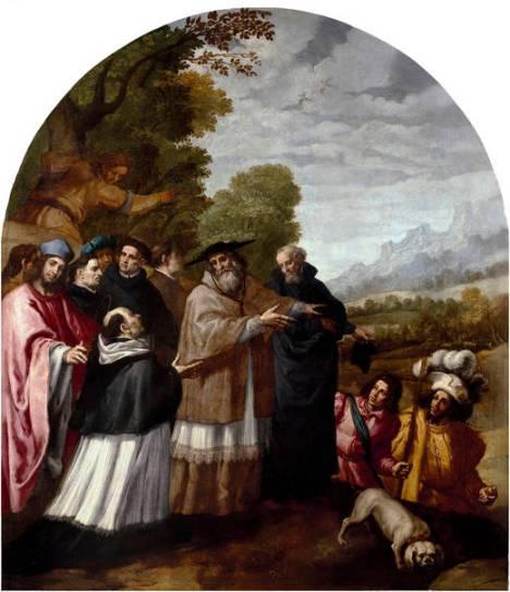 4 Il vescovo Ugo accompagna Bruno ed i suoi amici al massiccio della Chartreuse (Vicente Carducho)