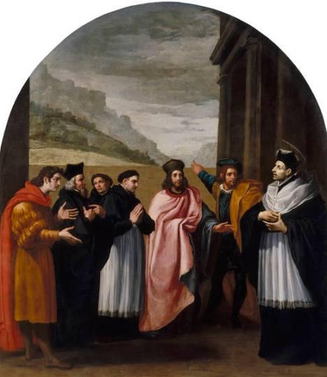 Bruno ed i suoi sei compagni decidono di ritirarsi dalla vita attiva (Vicente Carducho))