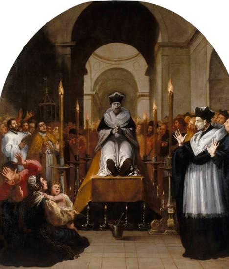 La conversione di Bruno davanti al cadavere di Raimondo Diocres (Vicente Carducho)