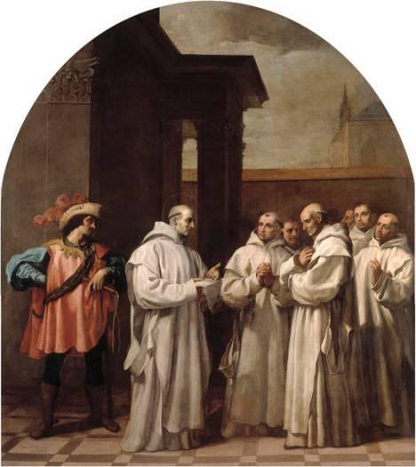 5 Papa Urbano II convoca Bruno a Roma ed egli saluta i suoi confratelli (Vicente Carducho)