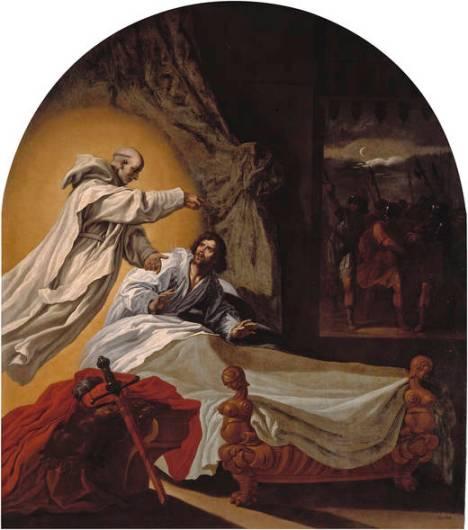 7 Apparizione in sogno di Bruno al conte Ruggero (Vicente Carducho)
