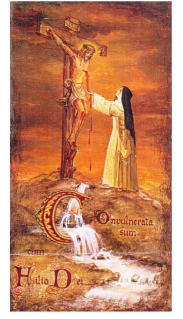 19monaca certosina raccoglie sangue Cristo