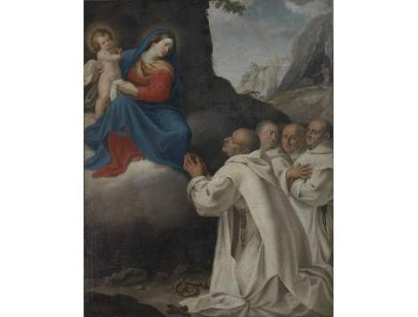 San Bruno si affida alla protezione della Vergini Manenti (certosa Trisulti)