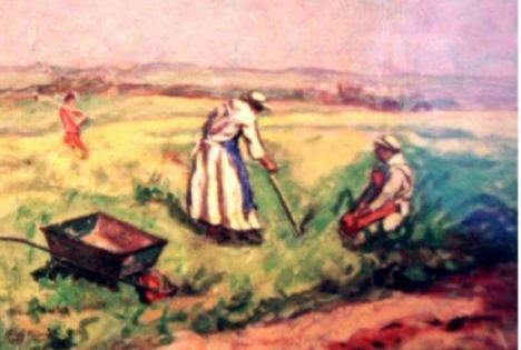 Fratelli in lavori agricoli