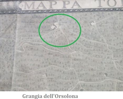 Grangia nella mappa del duca di Noja