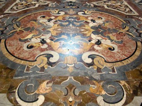 Particolare commesso marmoreo chiesa_pavimento_di_fra_bonaventura_presti_1664-67_