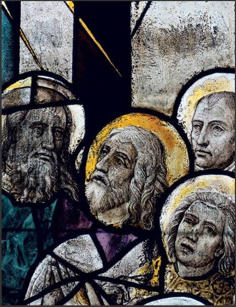 Dettaglio Pentecoste con presunto autoritratto