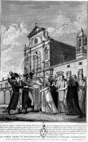Pio Vi  riceve l' ordine di lasciare  la Certosa