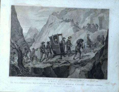 Viaggio avventuroso, passaggio al Moncenisio di Pio VI