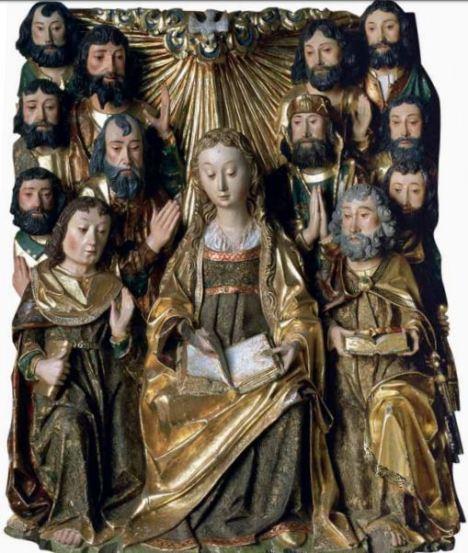 Pentecoste retablo cartuja de Miraflores
