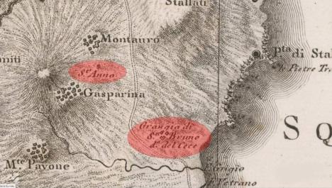 Mappa Rizzi Zannoni (grangia del cece)