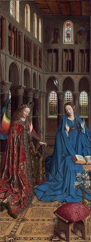 Annunciazione_-_Jan_van_Eyck_-_1434 certosa Champmol