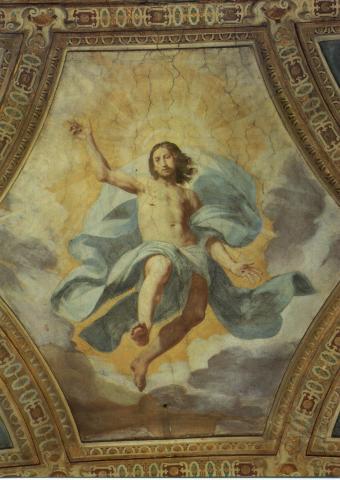 (L'Ascensione di Gesù al Cielo, Daniele Crespi, affresco (1626-1629), Certosa di Garegnano, Milano)